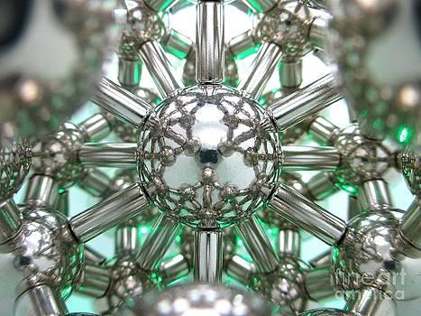 Green Magnetic Lotus Flower by Mark Teeter