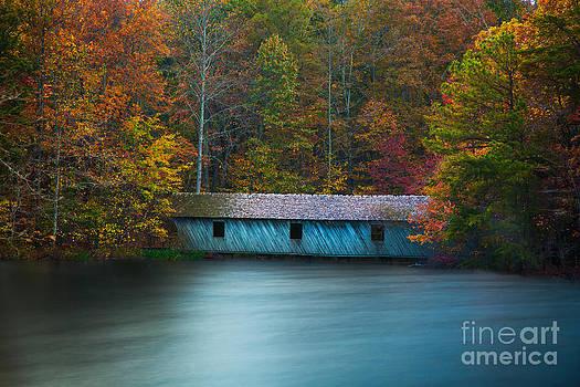 Green Mountain Covered Bridge Huntsville Alabama by T Lowry Wilson