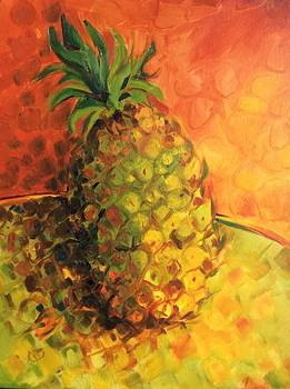 Green Orange Pineapple by Karen Carmean