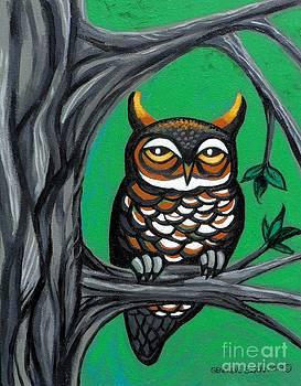 Genevieve Esson - Green Owl