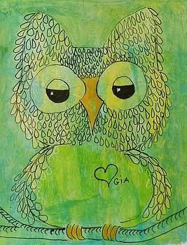 Green Owl by Jann Elwood