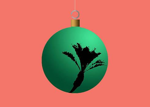Stan  Magnan - Green Palm Tree Christmas Tree Ball Ornament