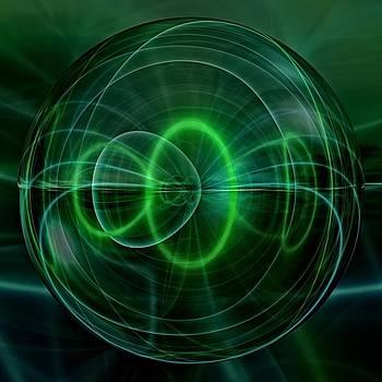 Green Pearl Mirror Ball  by Markus Christian Koch