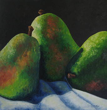 Green Pears with Shadows Cast by Darla Brock