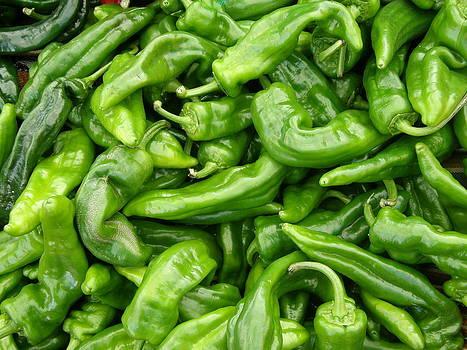 Green Peppers by Lloyd  Silverman