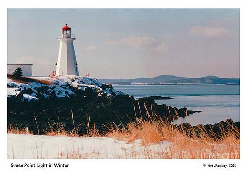 Art  MacKay - Green Point Light in Winter