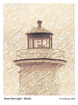 Art  MacKay - Green Point Light - Sketch