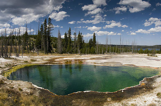 Green pool of Yellowstone by Chad Davis