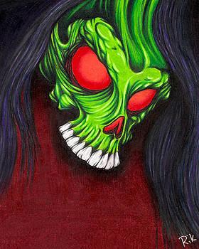 Green Skull by Rik Hayes