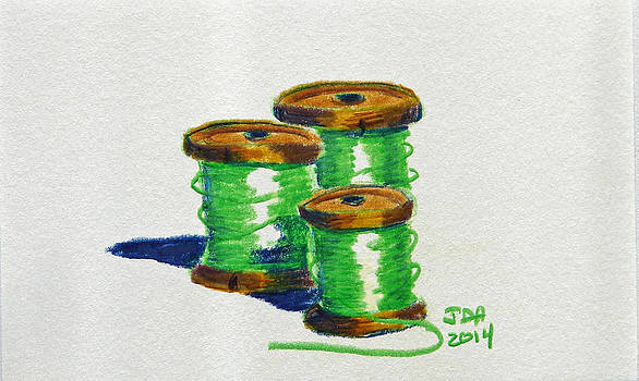 Green Spools of Thread by Joseph Hawkins