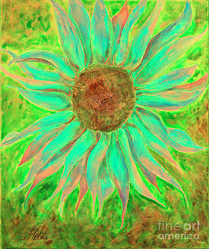 Green Sunflower by Shannan Peters