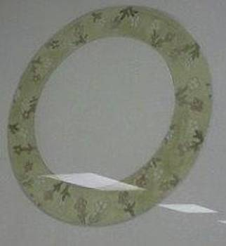 Green Swedish Plate by Karen Jensen