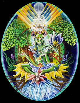 Green Tara- Earth's Protectress and Connectress to the Domain of Light by Morgan  Mandala Manley