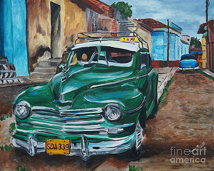 Green Taxi  by Frankie Picasso