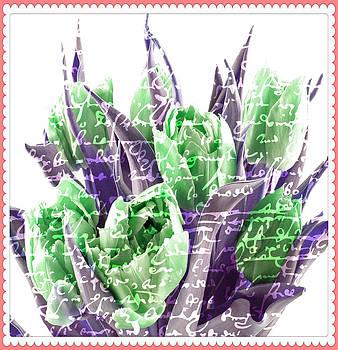 Debra  Miller - Green Tulips