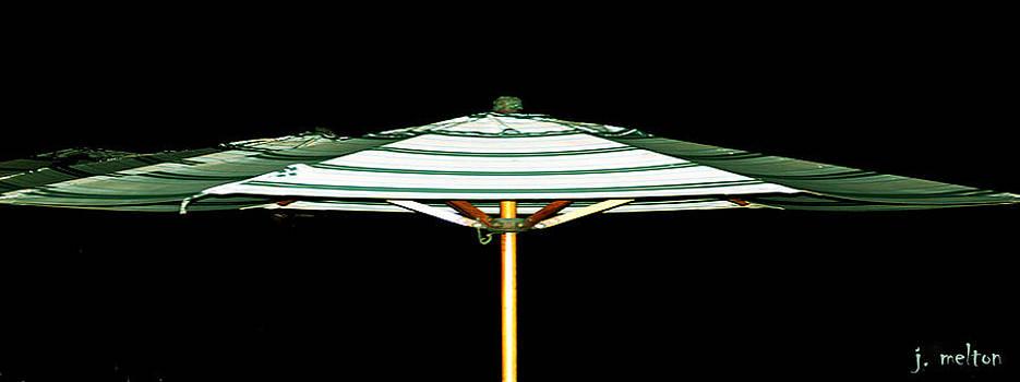 Green Umbrella at Midnight by Jack Melton