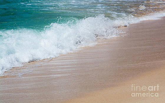 Green water and seaspray  by Christina Rahm