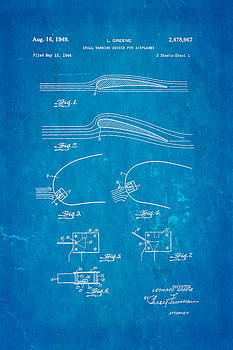 Ian Monk - Greene Flight Stall Warning Device Patent Art 1949 Blueprint
