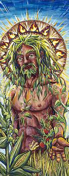 Greenman Sun King by Helga HedgeWalker