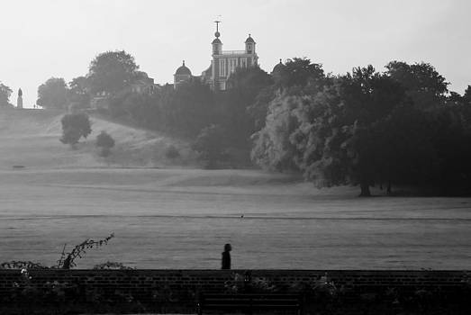 David French - Greenwich Misty Morning Jog