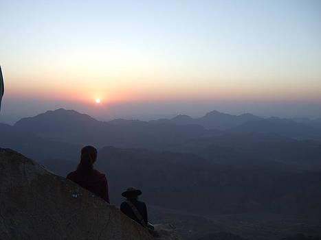 Greeting sunrise on Sinai by Katerina Naumenko
