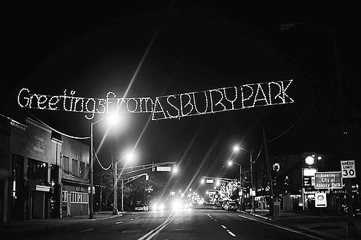 Terry DeLuco - Greetings from Asbury Park New Jersey Black and White