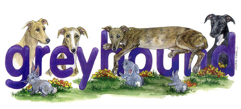 Greyhounds by Terry Albert