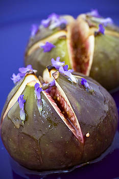 Grilled Figs With Lavender Honey by Frank Tschakert