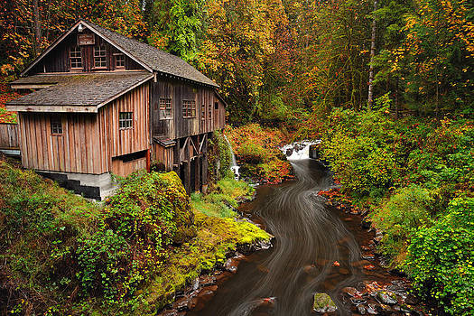 Grist Mill in Autumn by Andrew Kumler