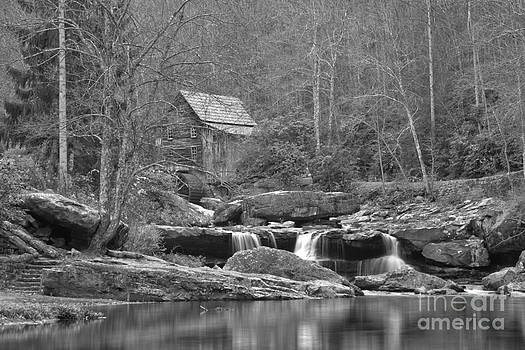 Adam Jewell - Grist Mill On Glade Creek Black And White