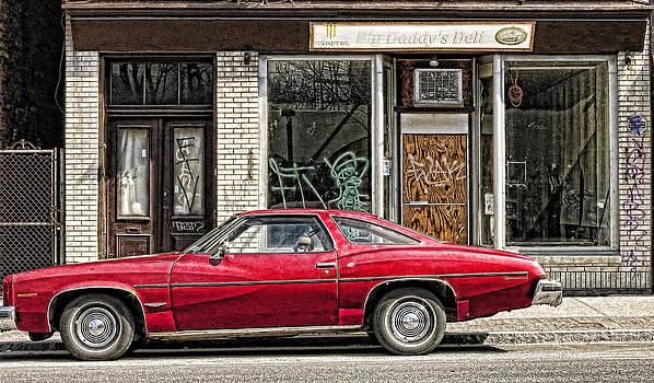 Gritty Red Car by Nancy De Flon