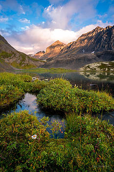 Grizzly Bear Lake at Dusk by Tim Newton
