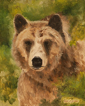Grizzly Encounter by Kent L Gordon