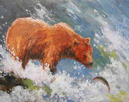 Grizzly Fishing by Robert Stump