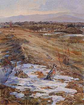 Grouse In The Spring by Galina Gladkaya