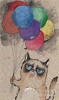 Angel  Tarantella - grumpy cat and balloons