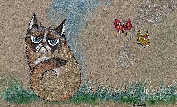 Angel  Tarantella - grumpy cat and butterflies