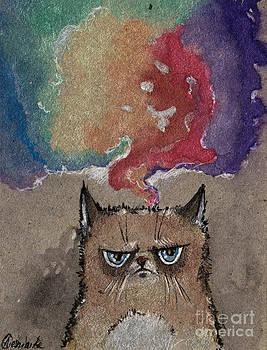 Angel  Tarantella - grumpy cat and her colorful dreams