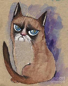 Angel  Tarantella - grumpy cat is watching you