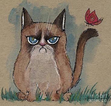 Angel  Tarantella - grumpy cat with butterfly