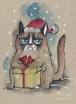 Angel  Tarantella - grumpy  christmas cat