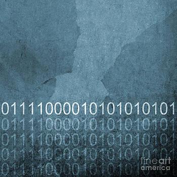 Tim Hester - Grunge Blue Binary Code Background