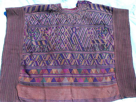 Guatemalan hand woven wool tunic  by Anonymous artist