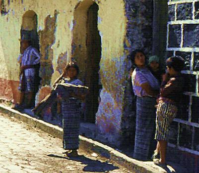 Guatemalan Street Family by Elizabeth Iglesias