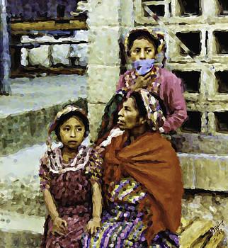 Guatemalan Two Girls With Grandmother by Elizabeth Iglesias