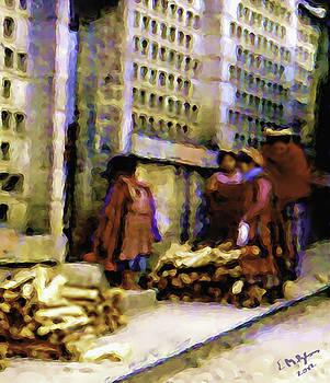 Guatemalan With Firewood by Elizabeth Iglesias