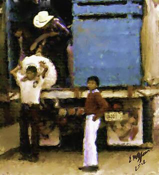 Guatemalan Boy And Truck by Elizabeth Iglesias