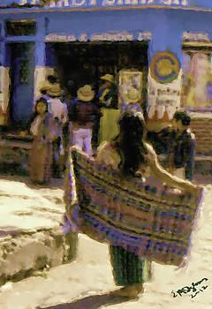 Guatemalan Girl With Shawl by Elizabeth Iglesias