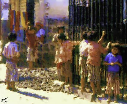 Guatemalan Line of Boys by Elizabeth Iglesias