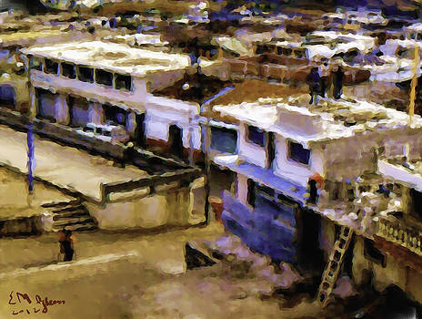 Guatemalan Roof Top Scene by Elizabeth Iglesias